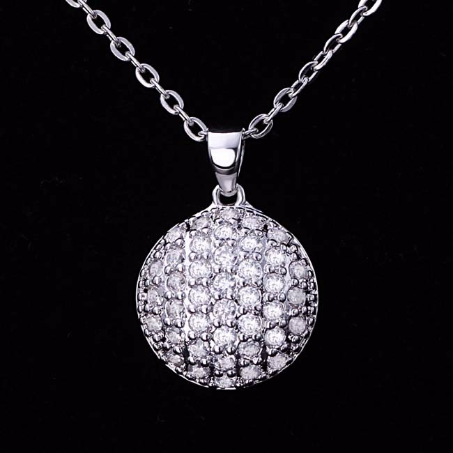 925 Sterling Silver Necklace Jewelry Micro Pave CZ Long Chain Pendants
