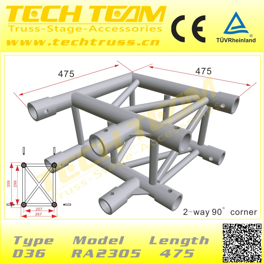 Rectangle Stage Lighting Truss Thickness 4mm