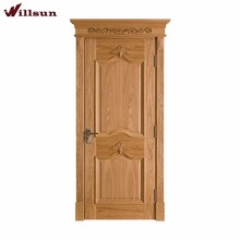 India Kerala style ash wooden bedroom door panel carving design