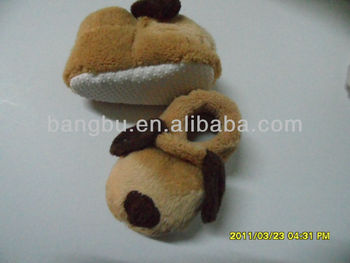 2014 cute animal baby shoes with embroidery infant colar fleece infant shoe