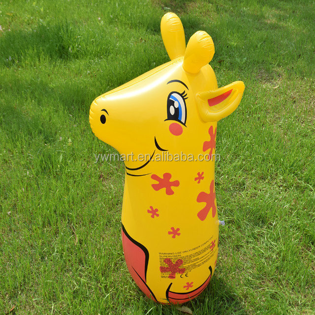 Hot sale EN-71 PVC air animal shaped inflatable tumbler toys for kids wholesale