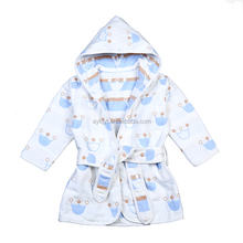 SP-MS-001 wholesale hotel high quality gause 6 layers muslin baby hooded bathrobe