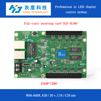 online full color led display controller HD-R500,no need sending card,recognized input and output automatically,play live video