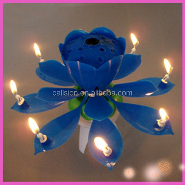 unique lotus flower shaped candles