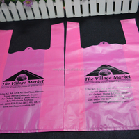 clear plastic t shirt hdpe plastic shopping bags pink
