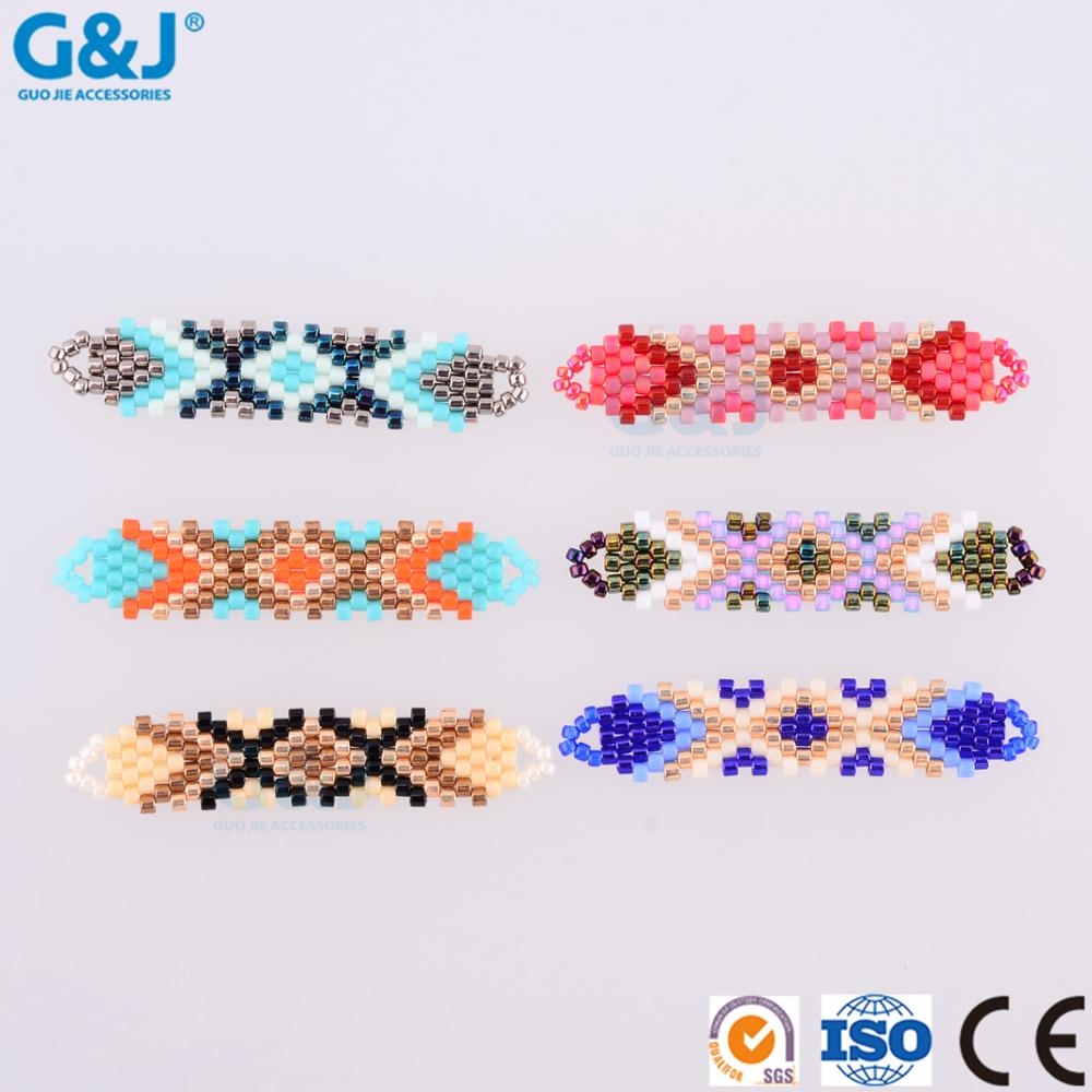 Guojie brand girl dress accessories bracelet pendant necklace oval acrylic crystal beads