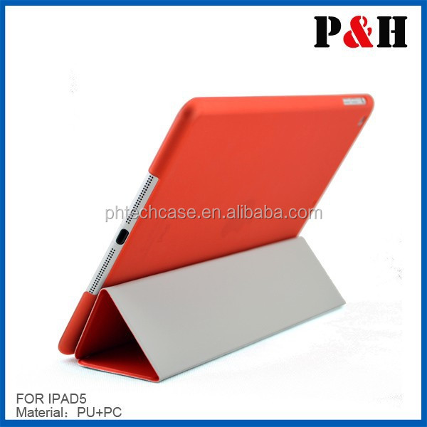 leather for ipad cases with elastic closure,high quality Pu leather case cover for ipad ipad air,for ipad case