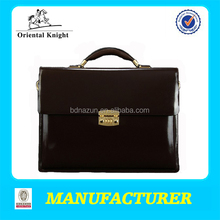 2014 the latest genuine leather lock laptop bags with stable quality