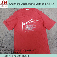 100% Cotton Recycled T-shirt Dark Color Wipers rags(Uncutted)