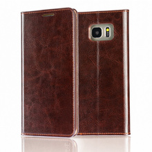 C&T Genuine Leather Magnet Cover Wallet Leather Case Flip Cover for Samsung Galaxy S7