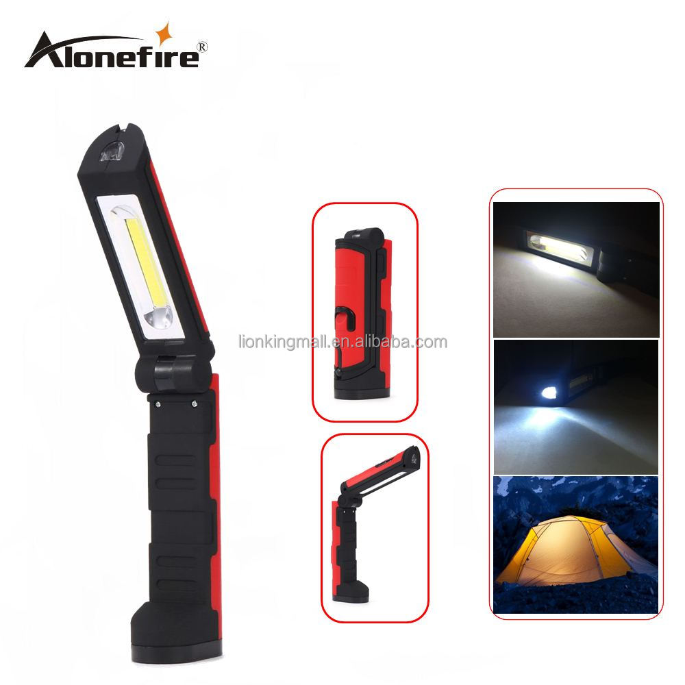 AloneFire <strong>C026</strong> Multifunctional Portable COB LED Magnetic Folding Hook Work Light Flashlight Lanterna Lamp for Camping flashlight