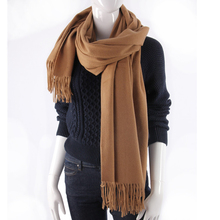 2018 custom oversize spring autumn winter women warm plain wool cashmere scarf