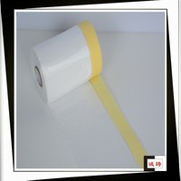 HDPE film and masking tape car protective paint masking film