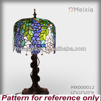 MX000012 wisteria stained glass lamparas tiffani wholesale imitation tiffany lamps