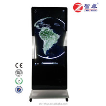 42 inch slim lobby touch screen restaurant menu/lcd interactive kiosk