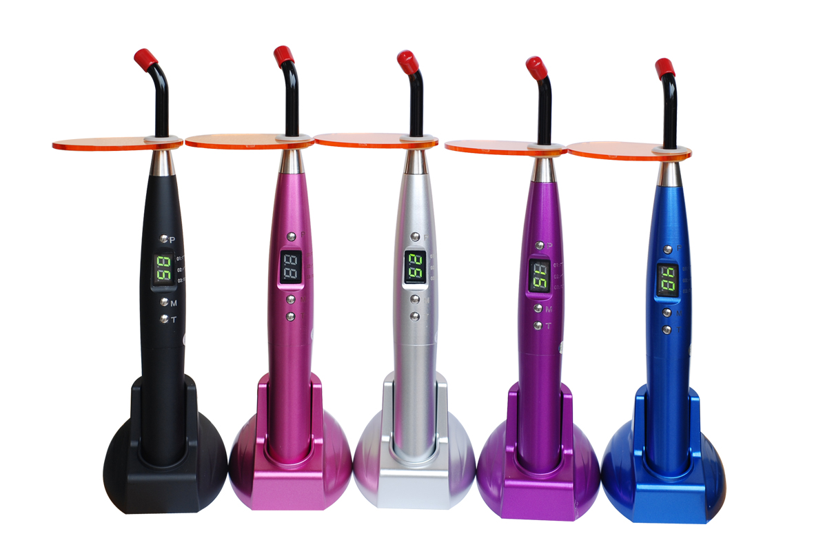 Dental Led Curing Light ; Cordless Curing Light For Dental Clinic,With 3 Colors Light Source