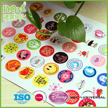 Customzied design full color printing art paper adhesive sticker