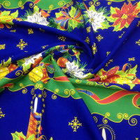 100% polyester printed fabric:Mini Matt for 2015 Christmas cloth garment, hometextile,curtains