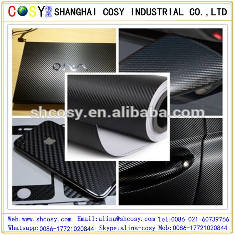 Air bubble free 3d carbon fiber film/vinyl for car wrapping