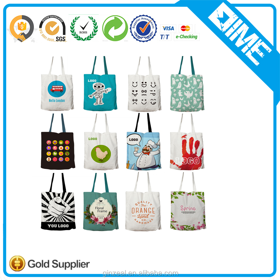 Promotional Trendy Cheap Cute Tote Custom Printed Cotton Bags