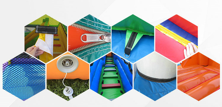 Curso de Obstáculo Inflável Pequeno Inflável Pista de Obstáculos ao ar livre