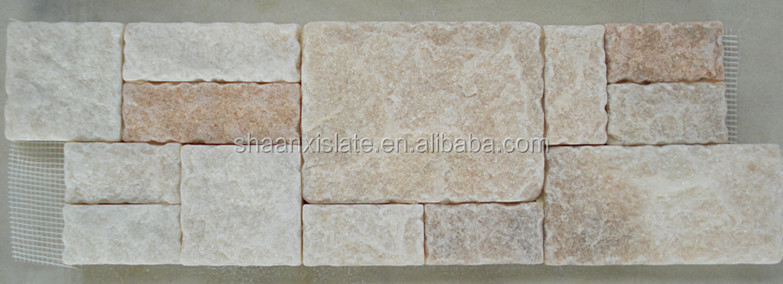 Different colors limestone panels mushroom face culture stone