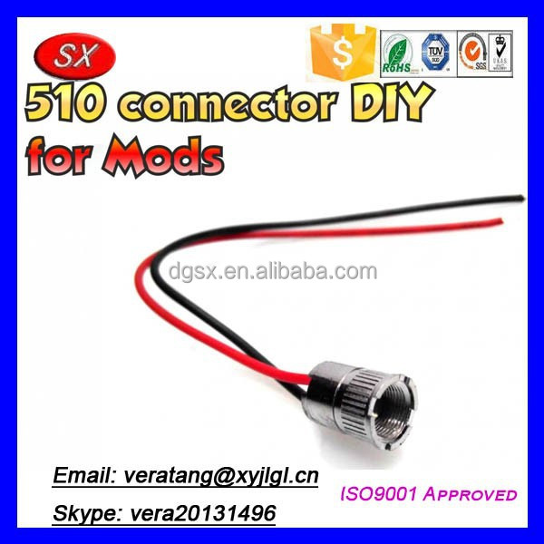 Pre-wired 510 battery connector sealed,ego battery connectors for box mod