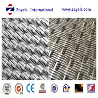 hot dipped or electro galvanized crimped wire mesh netting / decoration pvc coated crimped wire mesh Exporter ISO9001