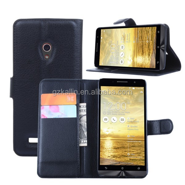 leather phone case flip back phone cover for asus zenfone 5