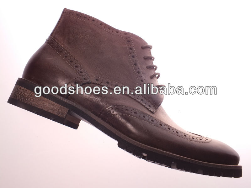 Genuine leather high ankle men dress shoes 2014