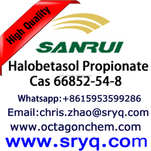 Cas 66852-54-8 Halobetasol Propionate, High Purity Halobetasol Propionate