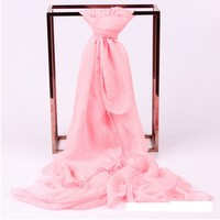 wholesale pure colour voile chiffon scarf famle plain scarf shawl