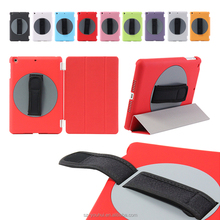 Wholesale Magic Hand Strap Holder 360 Degree Rotating Cover Leather Case with Auto Wake Up for iPad mini 1/2/3/4