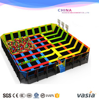 large cheap children indoor playground equipment with trampoline for sale