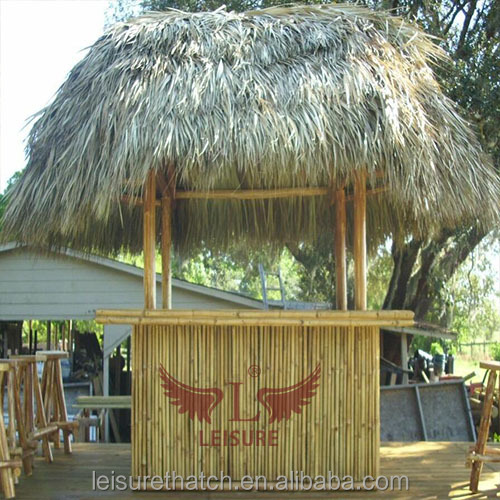 Artificial Eco-friendly fireproof palm leaf thatch for theme park