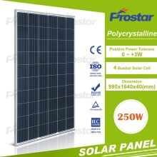 best price high quality 250w poly solar panel pv module for home power