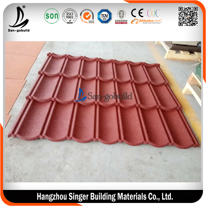 San-gobuild Classic Sun Stone Coated Metal Roof Tile