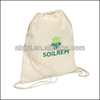 Top quality customized canvas drawstring bag