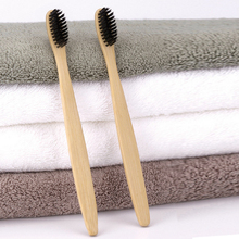 bamboo charcoal toothbrush wooden toothbrush