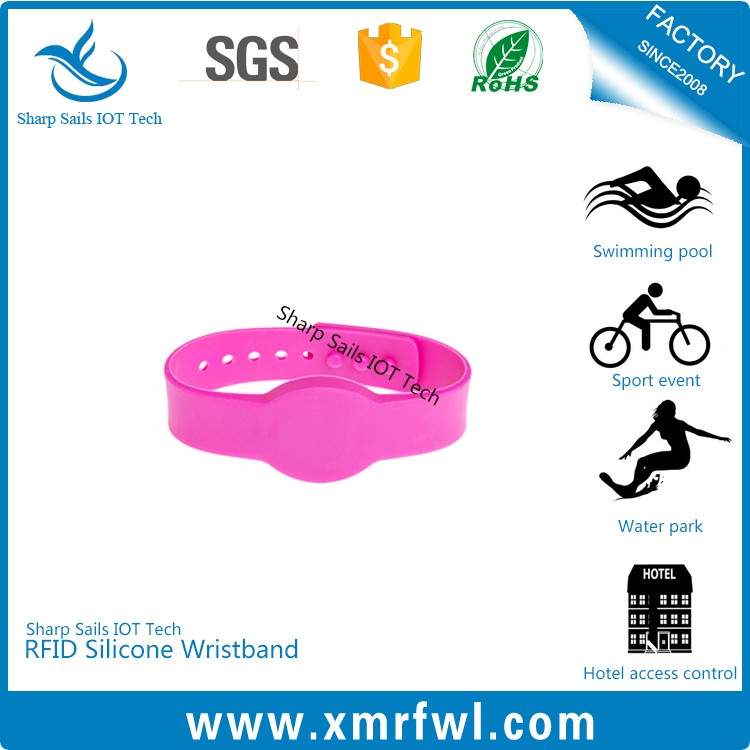 Party favor RFID silicone wrist band for pageant
