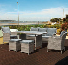 6-Piece Wicker Rattan Sofa Dining Patio Furniture Set
