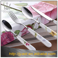 High Quality Royal stainless steel fork and spoon ceramic handle dinner set