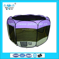 Oxford Fabric Outdoor Pet / Dog Playpens With 8 Panels Wholesale
