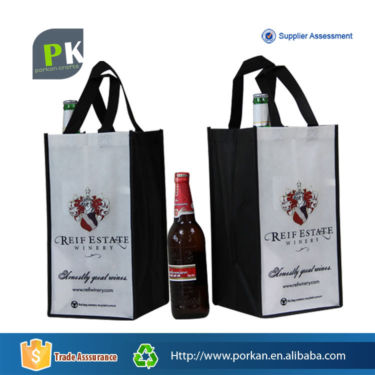 Factory Direct Collapsible Nonwoven Cooler Shopping Bag for Bottle