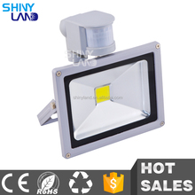 20 watt high quality color changing outdoor pir sensor led flood light