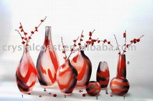 hand made floral vases;decoration big vases;murano art glass vase for holiday home decoration