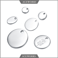 ACEWORKS Wholesale 925 Sterling Silver Custom Engraved Jewelry Blank Tag Customize Plain Tag