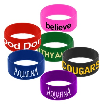 "Wholesale fitness event elastic 1"" width personalized logo printed World Cup sport festival rubber bracelet silicone wristband"