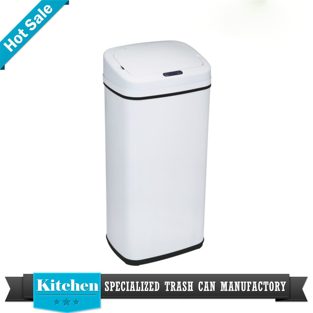 modern household square 13 gallon infrared motion sensor trash box