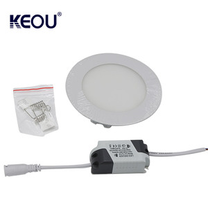 Daylight led lamp 3w 6w 9w 12w 18w 24w round led panel lights ultra thin square led celling light 6000K